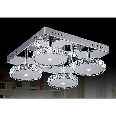 lmparas modernas claras araas de cristal 4 luces para el