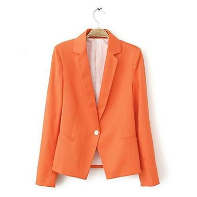 color del caramelo de los cierres de un solo botón delgada de manga larga  traje ropa de abrigo de las mujeres 1759747 2018 –  17.95 1a0be5ea6b7