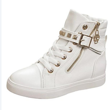 a8778964465d 448.61 sko lerret flat hæl komfort rund tå trendy sneakers fritid friluft  svart bl.
