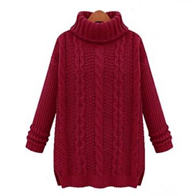 05bb8f87cca [$36.62] ψηλό γιακά χαλαρά πλεκτά πουλόβερ γυναικών