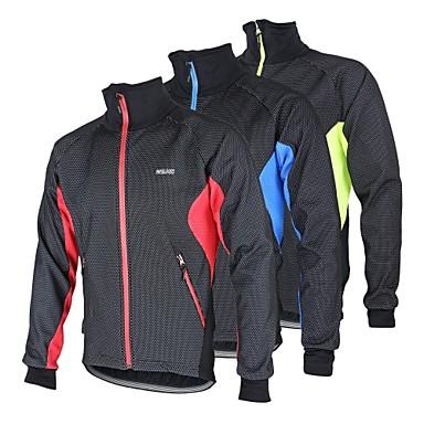 2536399e4 Arsuxeo Men s Cycling Jacket Bike Jacket Winter Fleece Jacket Top Thermal    Warm Windproof Fleece Lining Sports Polyester Spandex Fleece Winter Red    Blue ...