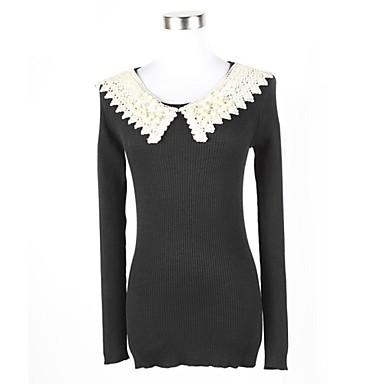 d2c483f277 női divat Pán Péter gallér o-nyakú pulóver vékony pulóverek 2006180 2019 –  $38.99