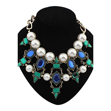cheap Pearl Necklaces-Women's Statement Necklace Pearl Necklace Elizabeth Locke Color Pearl Resin Plastic Screen Color Necklace Jewelry For