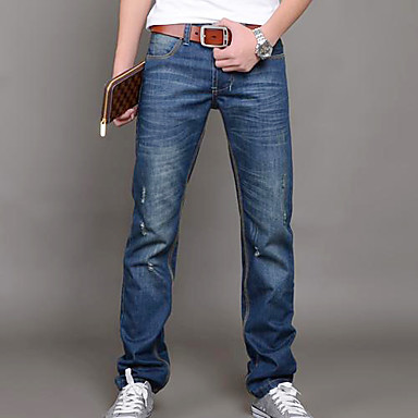 Pánské otvor nosit bílé Slim Jeans kalhoty 1541672 2019 –  55.19 42b962eebf