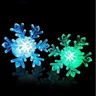 akryl jul lätt snö ledde nattlampa