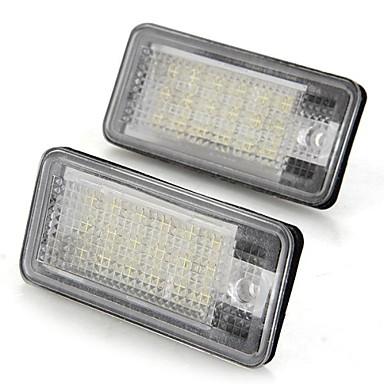 Een paar auto nummerplaat lampen bollen wit 18 smd led verlichting ...