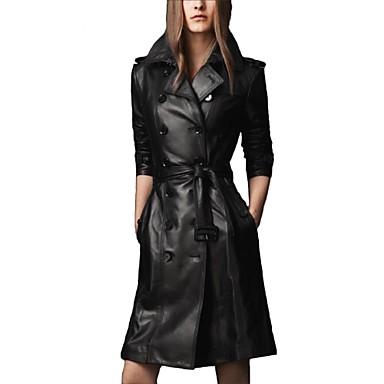 cfc4338ef981 skymoto® casual μακρύ pu δερμάτινο μπουφάν των γυναικών 1961970 2019 –   158.99