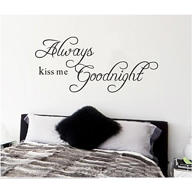 ZOOYOO® Removable Colorful Cute Always Good Night 3D Wall Sticker Home  Decor Wall Stickers For Kids/lbed Room 1958381 2017 U2013 $4.99