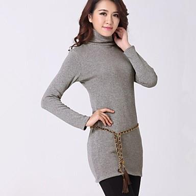 női divat magas gallérral ruha nők laza kényelmes kötött pólók ruhák  2013725 2019 –  32.54 c25db0429f