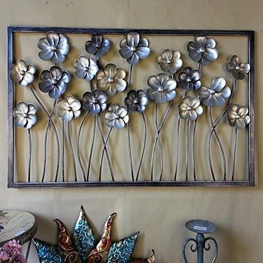 Metal Wall Art Wall Decor The Flowers Were Blossoming Open