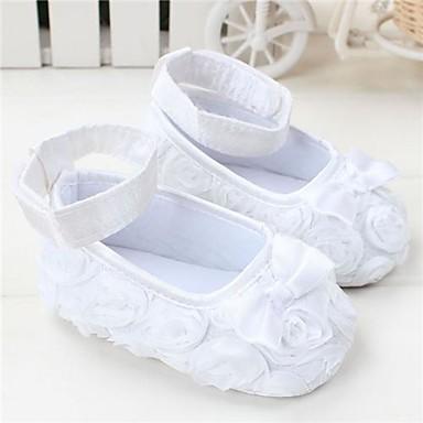 preiswerte Schuhe für Kinder-Mädchen Kinderbett Schuhe Flache Schuhe Kleinkinder (0-9 m) Schleife Rot / Rosa / Lila Frühling Sommer
