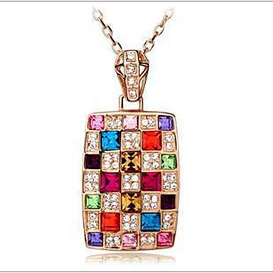 povoljno Modne ogrlice-Žene Kristal Ogrlice s privjeskom Duga dame Austrijski kristal Legura zaslon u boji Ogrlice Jewelry Za