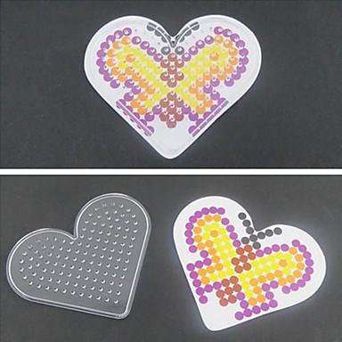levne Kreslení hračky-1ks šablona jasné, děrované stěny milující srdce pro 5mm HAMA korálky Perler korálky pojistek korálky