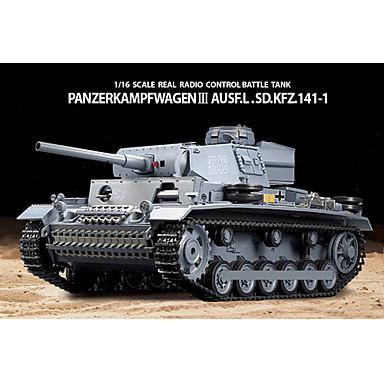 cheap RC Tanks-Heng Long 1/16 PanzerKampfwagen III SdKfz RC BattleTank