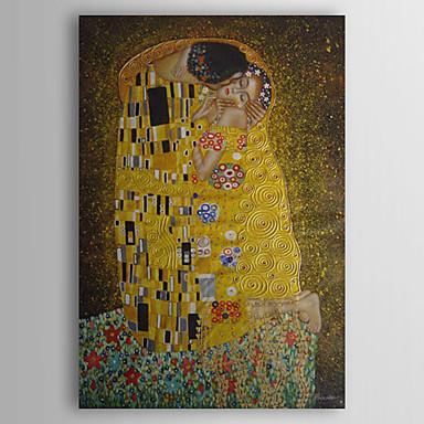 povoljno Ukrašavanje zidova-ručno oslikana uljana slika poljubac gustava klimta s ispruženim okvirom