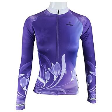 806dd88e8bb71 Buy ILPALADINO Women s Long Sleeves Cycling Jersey - Purple Floral   Botanical  Bike Jersey