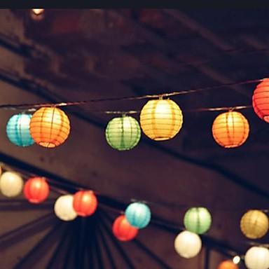 lanterne solaire 10led multicolore chaîne lumière parti lampe de ...