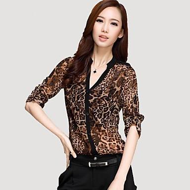 1f2c984b0d3e1 panthère impression pure mousseline tops chemisier de chemise de la femme de  2152823 2019 à  25.19