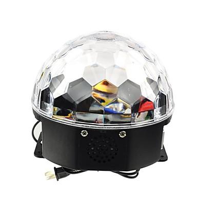 preiswerte LED-Innenbeleuchtung-18w rgb geführtes magisches Kugellicht eu des MP3-Stadiums Kristall (ac100-240v)