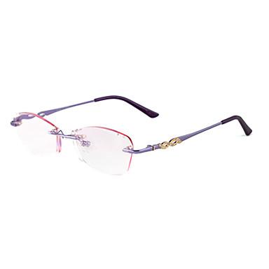 lentes libres] rectángulo de metal gafas de lectura de cristal sin ...