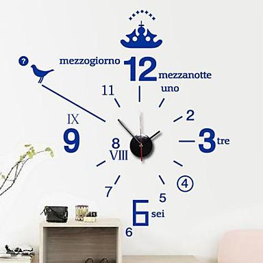 Kjempebra Wall Stickers Veggdekor, moderne engelsk Enkelt digital klokke pvc DR-34
