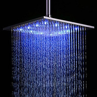 contemporary shower heads. Contemporary Rain Shower Brushed Feature - Rainfall LED, Head 2089950 2018 \u2013 $144.96 Heads