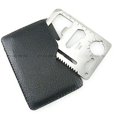 cheap Camping Tools, Carabiners & Ropes-Credit Card Survival Tool Stainless Steel Outdoor Silver