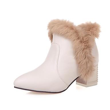 Γυναικεία παπούτσια - Μπότες - Φόρεμα - Χοντρό Τακούνι - Μυτερό   Μοντέρνες  Μπότες - Δερματίνη - Μαύρο   Κόκκινο   Άσπρο   Μπεζ 2114484 2019 –  39.99 39cc2902082