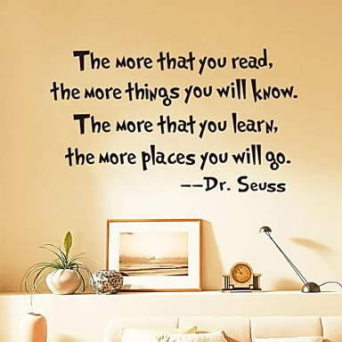 Words & Quotes Romance Abstract Wall Stickers Plane Wall Stickers ...