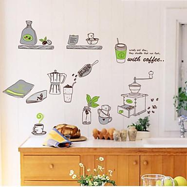830 Naklejki ścienne Naklejki Na ścianę Naklejki ścienne Kawa Kuchnia Dekoracji Plakat Z Pcv