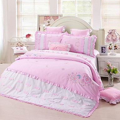 23a0d86a fadfay @ søte jenter floral sengetøy sett rosa barna brodert blomst  dynetrekk satt dronning 2106664 2019 – $124.99