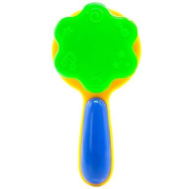 högkvalitativ abs färgglada bebis barn handen sköt leksaker handbell bebis leksaker pedagogiska leksaker