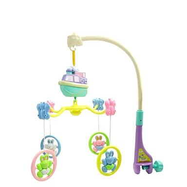elektrisk musikalisk roterande barnsäng klocka barn spädbarnbarn säng bell söta djur babyleksaker (10st låtar)