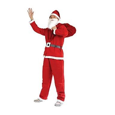16fea2044f2a Santa claus röd klänning med hatt och skägg för vuxna 2225267 2019 – $11.99