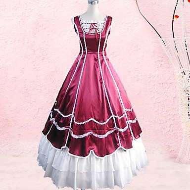 Klänningar Gotisk Lolita lolita tillbehör Klänning Kravatt Cotton Halloweenkostymer / Lång längd