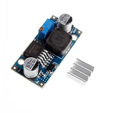lm2596 - adj dc-dc justerbara steg-down reduktionsspänningssänkning modul med aluminium kylfläns