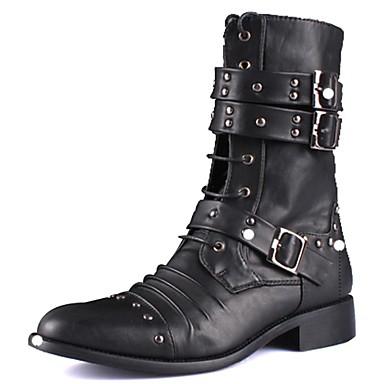 férfi cipő bakancsot lapos sarok térdig érő csizma fűzős 2226174 2019 –   39.99 c198e446fc