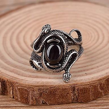 levne Pánské šperky-Pánské Vyzvánění Prsten Syntetické drahé kameny Titanová ocel Slitina Prohlášení Vintage Na běžné nošení Šperky Had