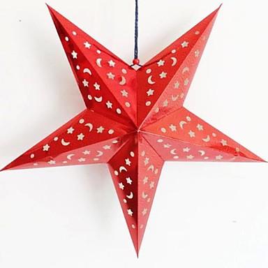 tredimensionell laserpapper jul stjärna