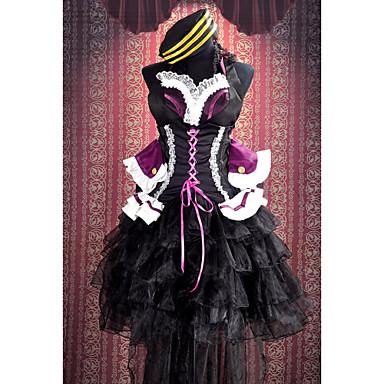 Inspirerad av Macross Frontier Sheryl Nome Animé Cosplay-kostymer Japanska cosplay Suits Lappverk Ärmlös Klänning / Rosett / Hatt Till Dam