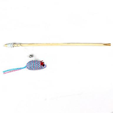 mus stil elastiskt rep trä katt Rods (1st, beige)