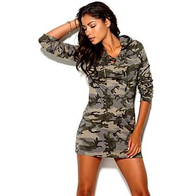 Vestido de camuflaje mujer