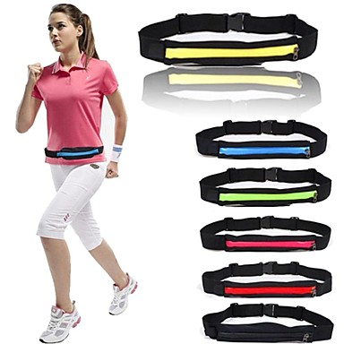 cheap Running Bags-Running Belt Fanny Pack Waist Bag / Waist pack 2-3 L for Running Marathon Fishing Racing Sports Bag Lightweight Adjustable Flexible Durable Minimalist Polyester Running Bag / iPhone X / iPhone XS Max