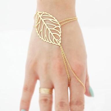 Γυναικεία Βραχιόλια με Αλυσίδα   Κούμπωμα Δαχτυλίδια με Βραχιόλι - Leaf  Shape Βραχιόλια Για Χριστουγεννιάτικα δώρα Πάρτι Καθημερινά 2375803 2019 –   2.99 a32a876c53e