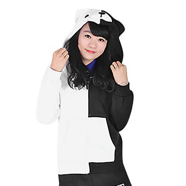 Inspirerad av Dangan Ronpa Monokuma Video Spel Cosplay-kostymer Cosplay Toppar / Bottoms Långärmad Kappa Kostymer