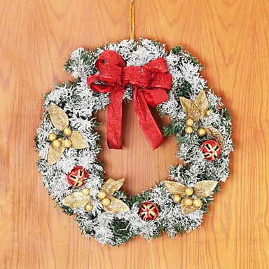 Christmas Wreath Rattan with Snowflake Door hanging,Christmas Decorating Wreath(Random Color)