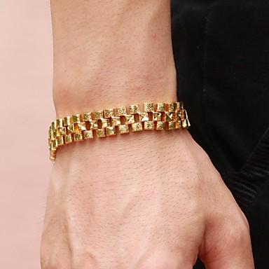 voordelige Herensieraden-Heren Tennis Armbanden Dames Uniek ontwerp Modieus Dubai 18 Karaats Verguld Armband sieraden Gouden Voor Kerstcadeaus Bruiloft Feest Dagelijks Causaal
