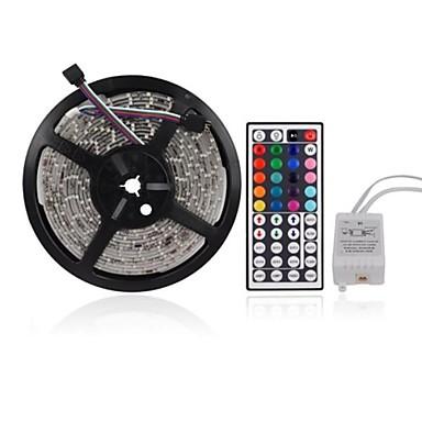 ZDM 5M 300 x 2835 8mm Lights LED Strip Lights RGB Tiktok Lights Flexible and IR 44Key Remote Control Linkable Self-adhesive Color-Changing