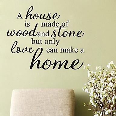 citater til hjemmet Ord & Citater Romantik Vintage abstrakt fantasi Vægklistermærker  citater til hjemmet