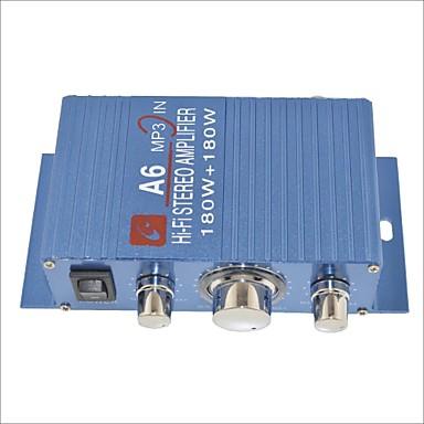 preiswerte Automobil-a6 180w hallo-Fi-Stereo-Verstärker für Auto / Motorrad-blau
